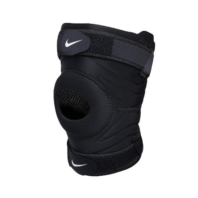 【NIKE 耐吉】護膝 Pro Knee Sleeve 魔鬼氈 男女款 護具 健身 重訓 吸濕排汗 調節帶 黑 白(N1000672-010)