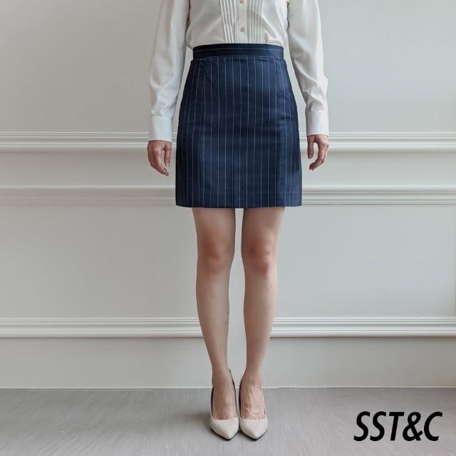 【SST&C】直條紋A字裙7462103007