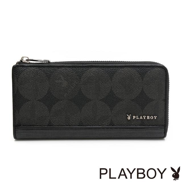 【PLAYBOY】L拉長夾 League系列(黑色)