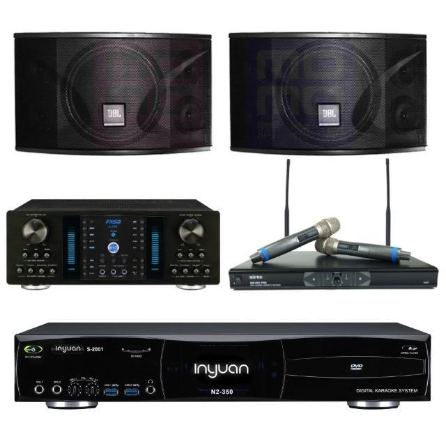【音圓】點歌機4TB+擴大機+無線麥克風+喇叭(S-2001 N2-350+A-350+MR-865 PRO+JBL Ki110)