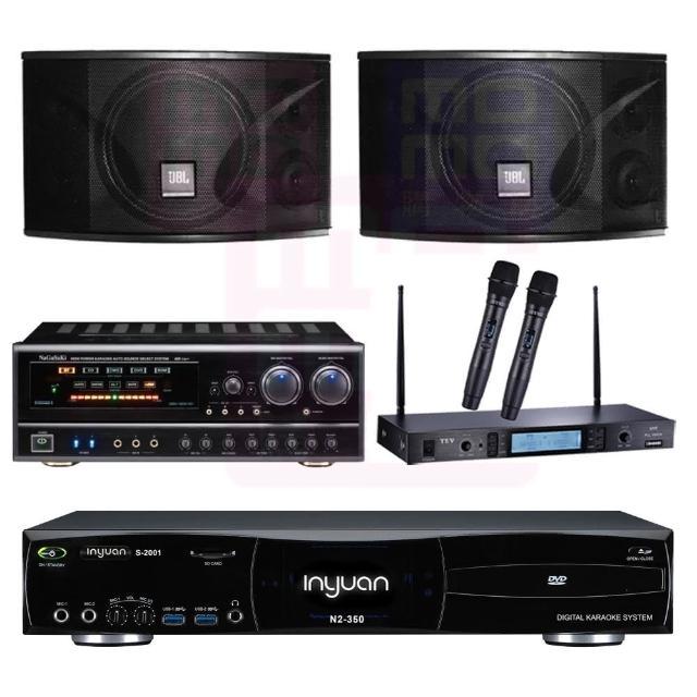【音圓】點歌機4TB+擴大機+無線麥克風+喇叭(S-2001 N2-350+BB-1 BT+MR-865 PRO+JBL Ki110)