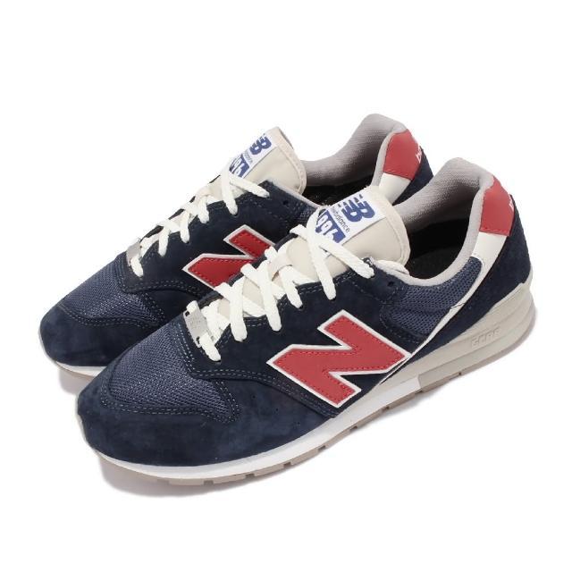 【NEW BALANCE】休閒鞋 996 復古 經典款 男鞋 紐巴倫 N字鞋 麂皮 穿搭推薦 藍 紅(CM996HG2-D)