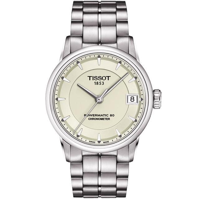 【TISSOT 天梭】T-Classic Luxury 天文台認證機械腕錶-銀(T0862081126100)