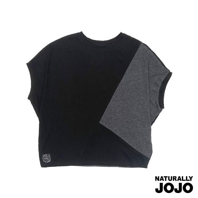 【NATURALLY JOJO】三角拼接撞色上衣(撞色)