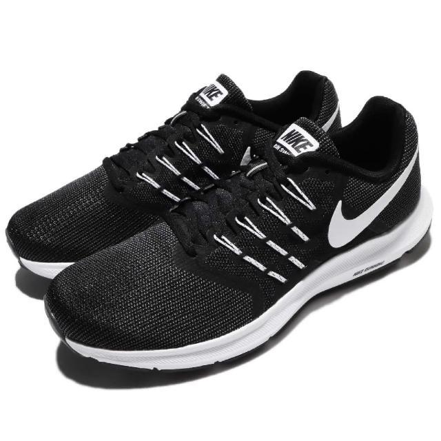 【NIKE 耐吉】慢跑鞋 Run Swift 運動 男鞋 輕量 透氣 舒適 避震 路跑 健身 黑 白(908989-001)