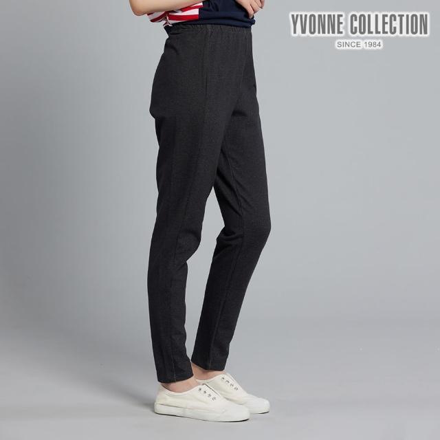 【Yvonne Collection】仿牛仔合身褲(黑L)