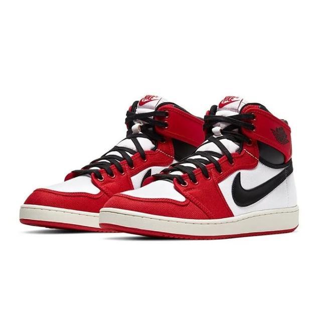 【NIKE 耐吉】Air Jordan 1 KO 運動 芝加哥 經典 高筒 帆布 皮革 白黑紅 奶油中底 休閒鞋 男款(DA9089-100)