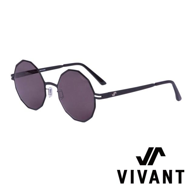 【VIVANT】韓國 精緻多邊形 鑽石太陽眼鏡(黑 - diamant - C1)