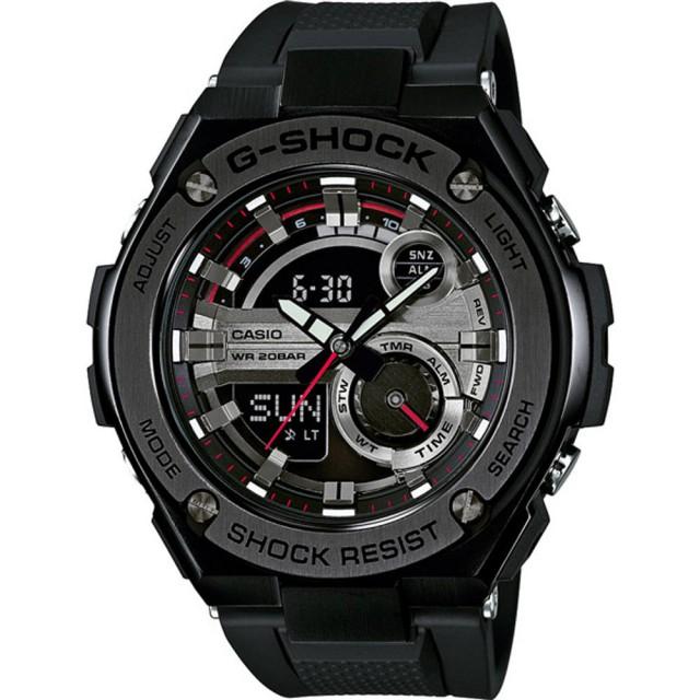 【CASIO 卡西歐】G-SHOCK系列 破繭重生雙顯運動錶(GST-210B-1ADR)