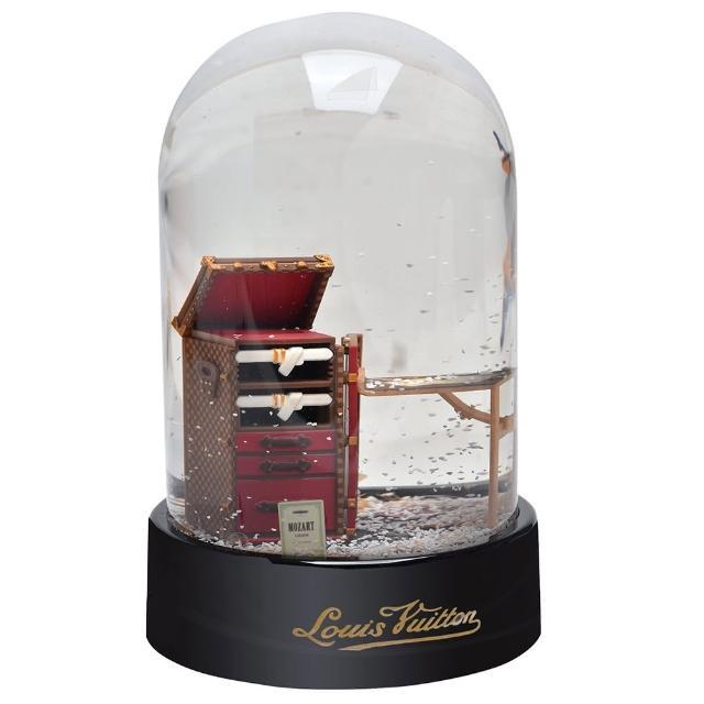 【Louis Vuitton 路易威登】VIP限量棋盤格收納櫃雪花水晶球(MP0195)