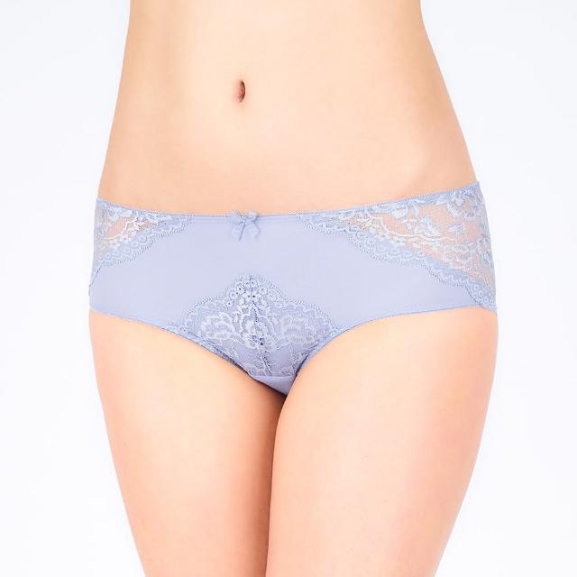 【Triumph 黛安芬】自然美型系列 蕾絲無痕中腰平口內褲 M-EL(紫藕色)