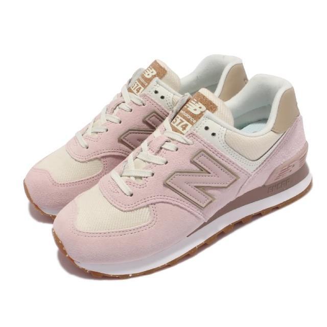 【NEW BALANCE】休閒鞋 574 復古 經典款 女鞋 紐巴倫 N字鞋 麂皮 穿搭推薦 粉 淺褐(WL574SP2-B)