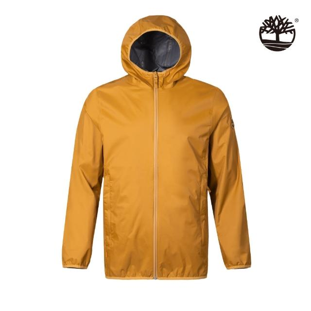 【Timberland】男款小麥色可收納防水連帽外套(A2ETNP47)