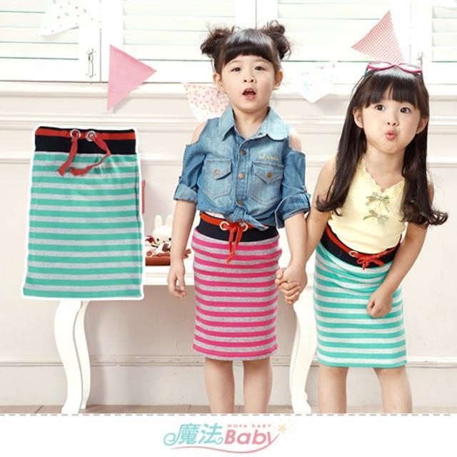 【魔法Baby】女童裝 超彈性伸縮女童窄裙(k51760)