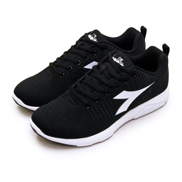 【DIADORA】男 迪亞多那 輕量飛織慢跑鞋 X RUN LIGHT 5系列(黑白灰 175608-C2815)