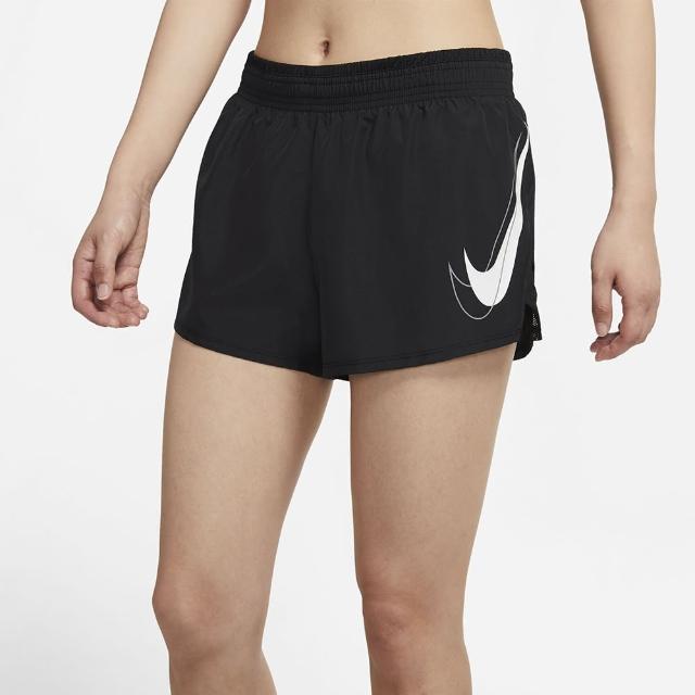 【NIKE 耐吉】短褲 女款 運動短褲 慢跑 AS W NK DF SWSH RUN SHORT 黑 DD4924-010