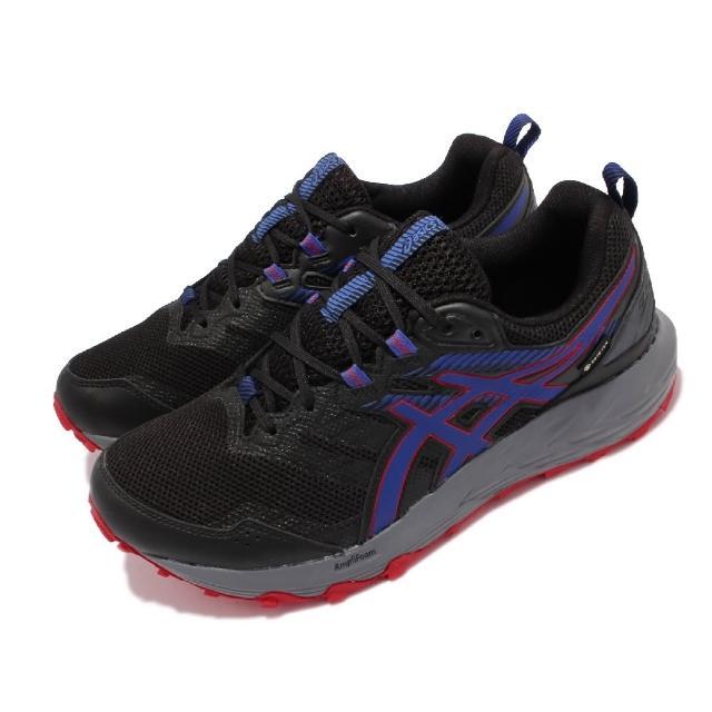 【asics 亞瑟士】慢跑鞋 GEL-Sonoma 6 GTX 男鞋 亞瑟士 防水 野跑鞋 緩衝 舒適 黑 藍(1011B048010)