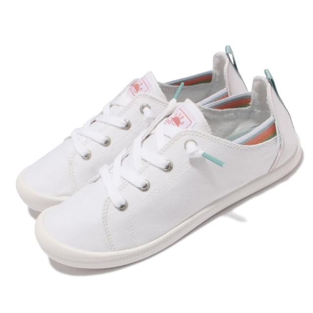 【SKECHERS】休閒鞋 Beach Bingo 套入式 帆布 女鞋 後跟可踩 緩衝 可機洗 BOBS 白(113998-WHT)