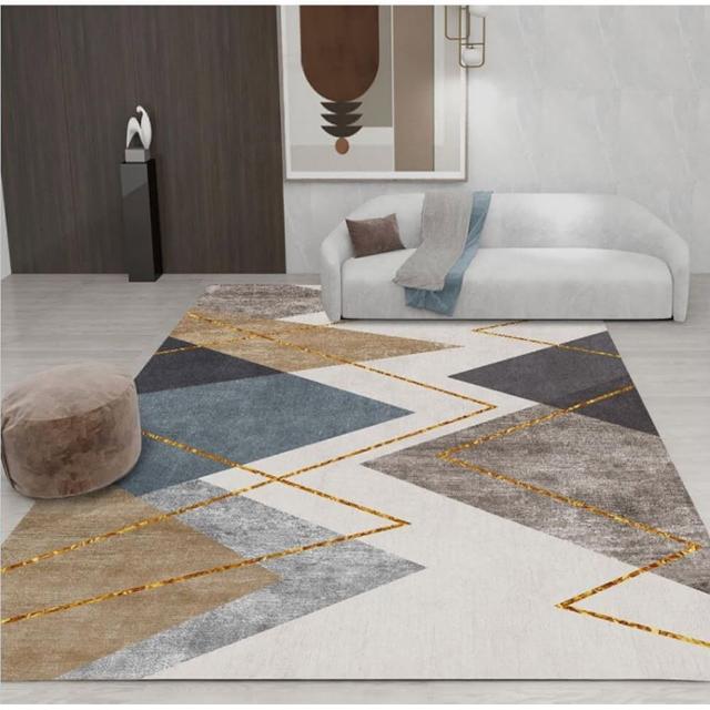 現代藝術水晶絨印花地毯 NO.57(140*200CM)