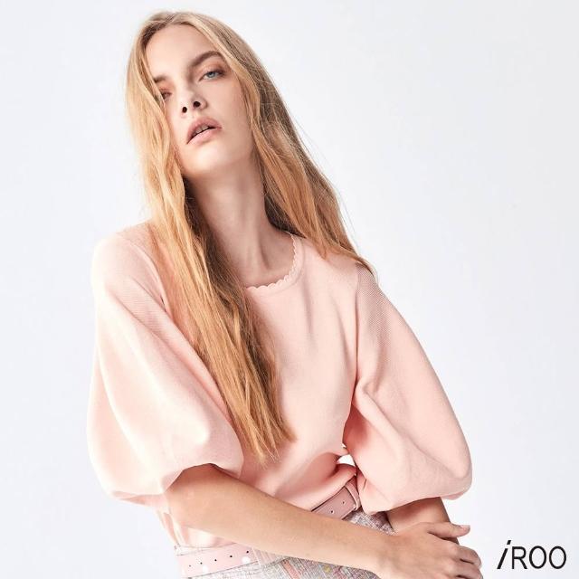 【iROO】拋拋袖 針織上衣