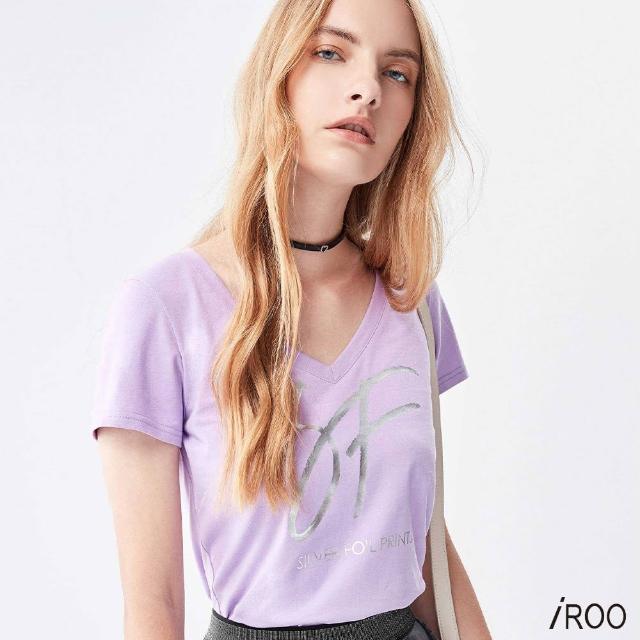 【iROO】燙金印花 T恤