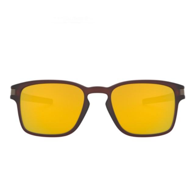 【Oakley】LATCH SQUARED Asian Fit 黃色鏡片運動太陽眼鏡(9358-0555)