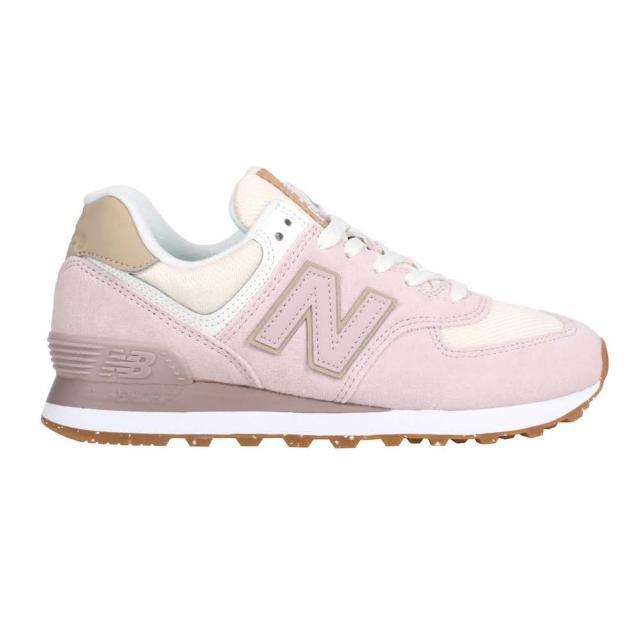 【NEW BALANCE】女復古運動鞋-慢跑 574系列 麂皮 N字鞋 NB 莓果粉(WL574SP2)