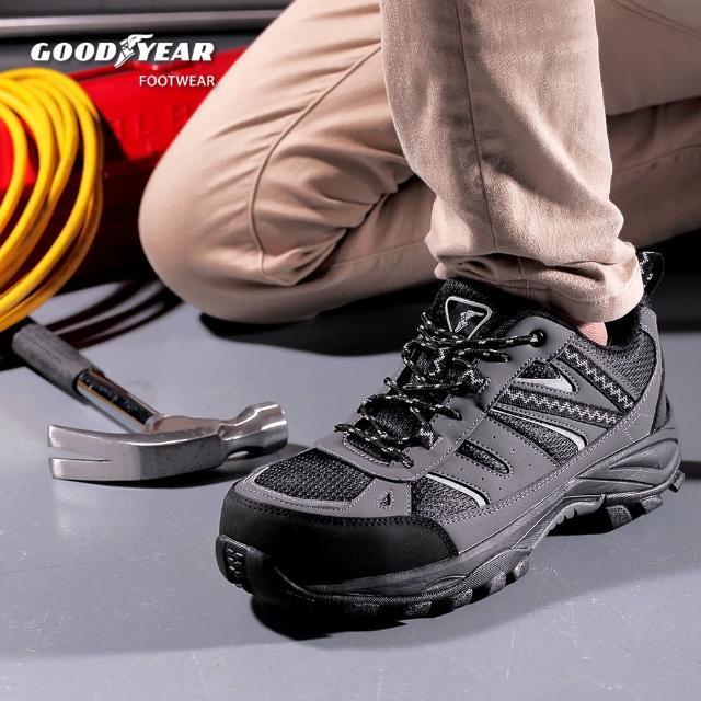 【GOODYEAR 固特異】父親節-認證安全鞋/男 防護鋼頭 工作鞋(守護者GAMX83900)