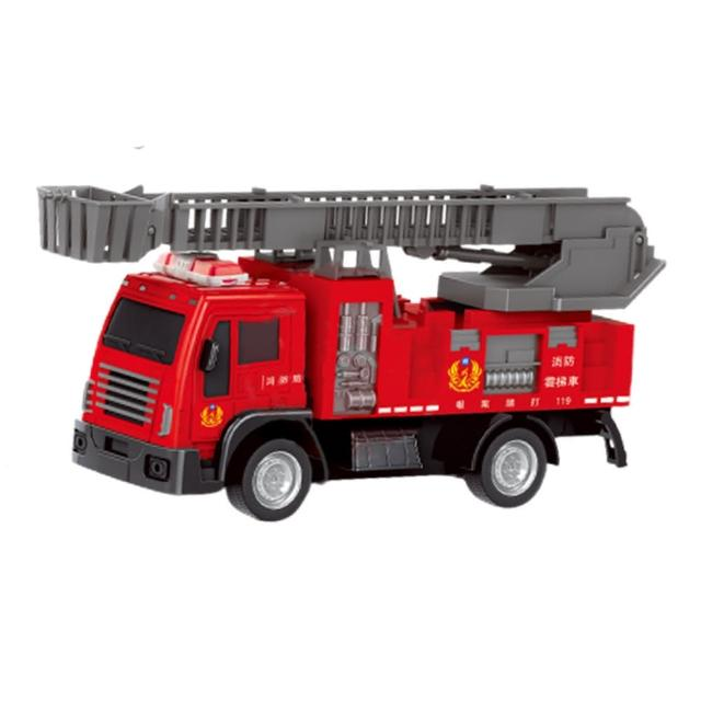 【進化玩具】遙控手動雲梯消防車(雲台可旋轉 雲梯可伸縮)