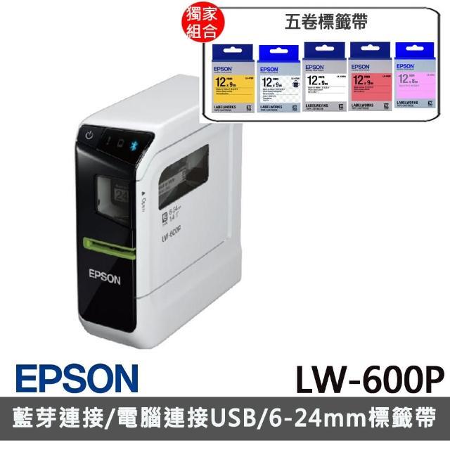 【升級保固超值組】贈5捲標籤帶【EPSON】LW-600P 智慧型手寫標籤印表機(內附原廠變壓器/專)