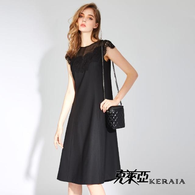 【KERAIA 克萊亞】維納斯典雅拼接蕾絲洋裝