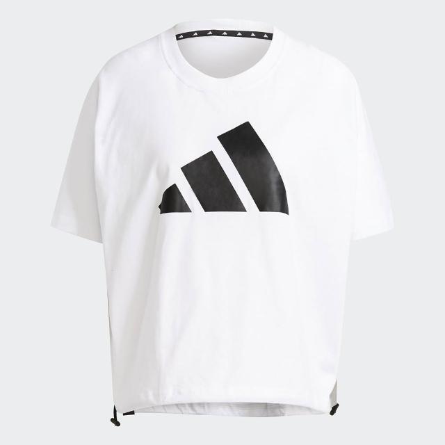 【adidas 愛迪達】adidas W ST LOGO TEE 女休閒寬鬆短袖上衣 GL9507