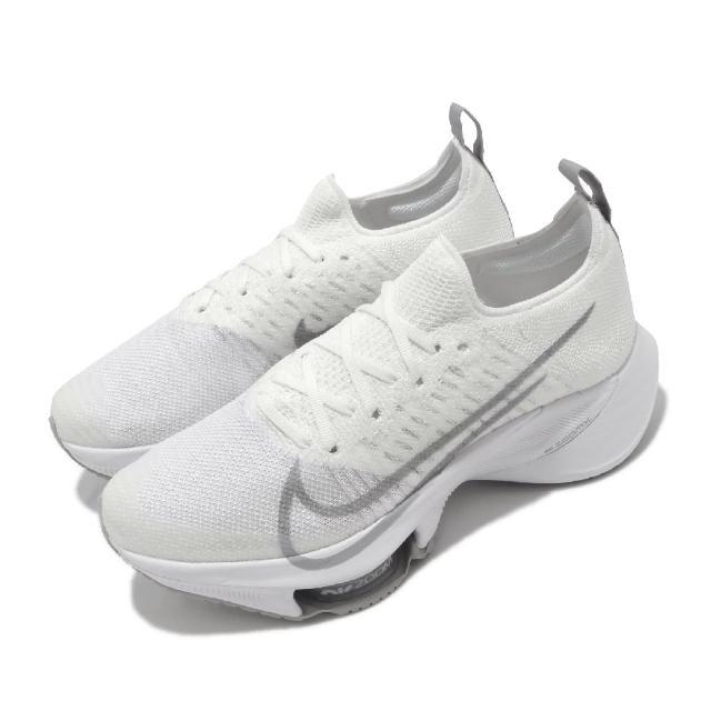 【NIKE 耐吉】慢跑鞋 W Tempo Next FK 女鞋 Zoom 套腳 避震 跑鞋 訓練 米 白(CI9924-101)