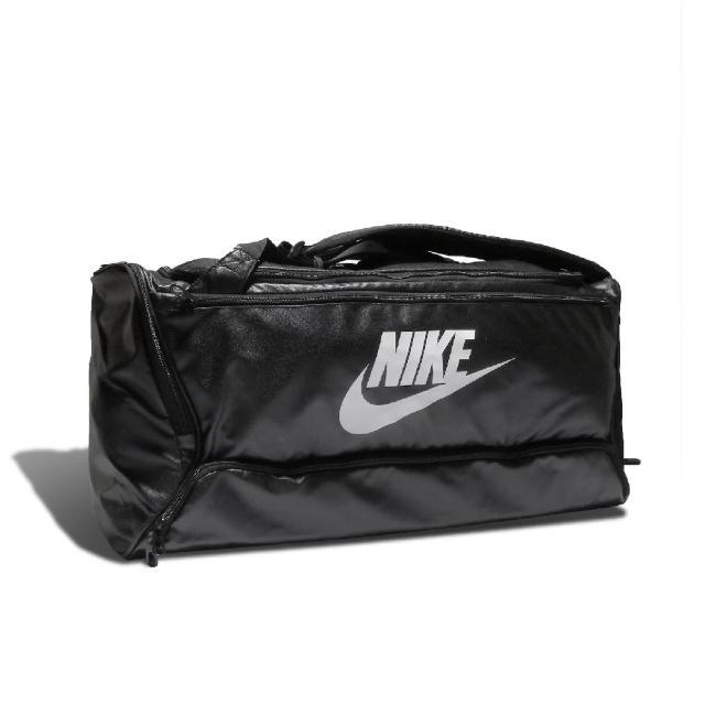 【NIKE 耐吉】手提包 Training Duffel Bag 健身 重訓 背帶可調 鞋子收納 大容量 黑 白(BA6395-010)