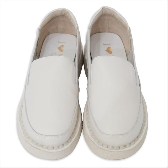 【WYPEX】牛皮軟Q懶人鞋 樂福鞋 鬆糕鞋 厚底鞋(2色)