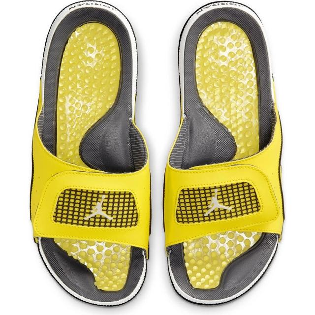 【NIKE 耐吉】拖鞋 男鞋 運動 喬丹 JORDAN HYDRO IV RETRO 黃 DN4238-701
