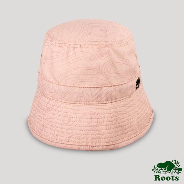 【Roots】Roots配件-開拓者系列 等高線元素漁夫帽(桃粉色)