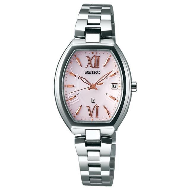 【SEIKO 精工】LUKIA 太陽能電波鈦金屬酒桶型腕錶-26mm(1B22-0BY0P/SSQW025J)