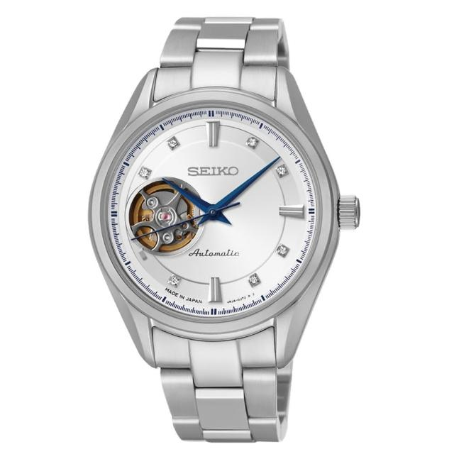 【SEIKO 精工】PRESAGE 都會時尚晶鑽機械錶-35mm(4R38-00R0S/SSA871J1)