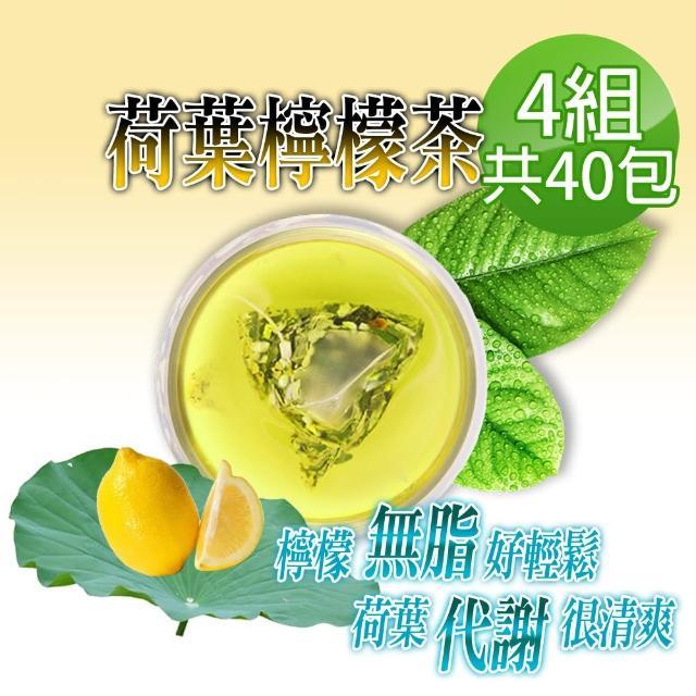 【蔘大王】解油雙寶 台灣荷葉檸檬茶(3D透明茶包)6gx10包X4組(回甘很到位/代謝很輕鬆/無咖啡因無茶鹼)