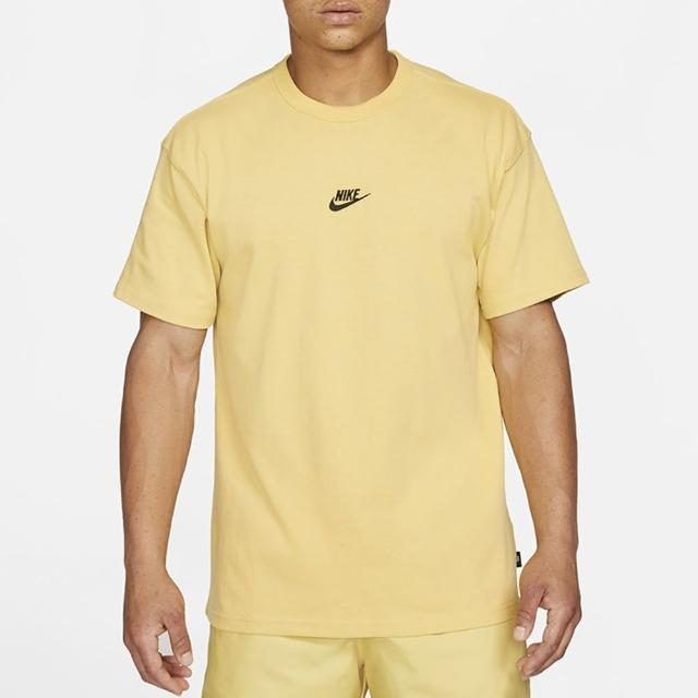 【NIKE 耐吉】上衣 男款 短袖上衣 運動 AS M NSW TEE PREMIUM ESSENTIAL 黃 DB3194-700