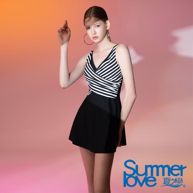 【Summer Love 夏之戀】泳衣 大女連身裙二件式-加大(E21702-05)
