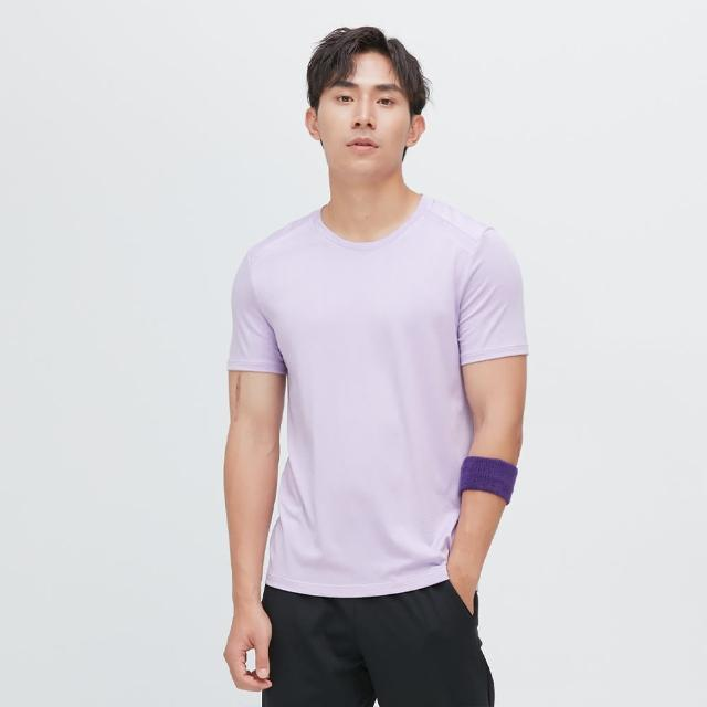 【VOUX】Ultracool-涼感吸排剪接上衣(珊瑚紫M-XL)