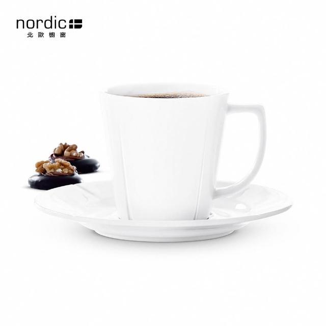 【北歐櫥窗】Rosendahl Grand Cru 白瓷咖啡杯盤組(260 ml)