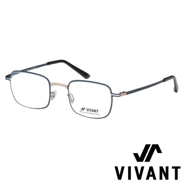 【VIVANT】韓國. 韓式精緻小方框 光學眼鏡(.藍/金 sentir C4)