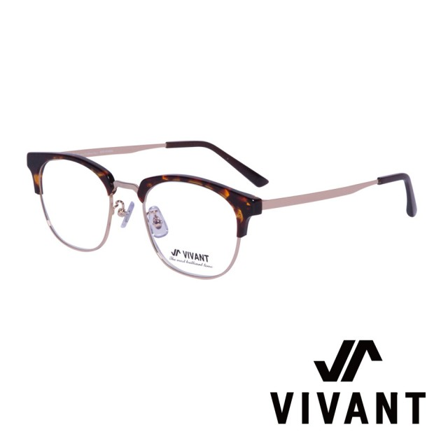 【VIVANT】韓國 潮流眉框 文青光學眼鏡(.琥珀 halves C2)