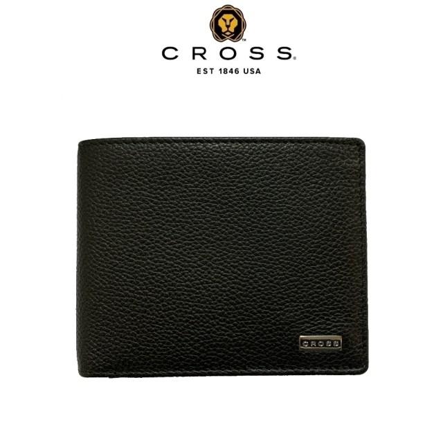 【CROSS】限量2折 頂級小牛皮荔枝紋8卡皮夾 全新專櫃展示品(哈德森系列 附原廠送禮提袋)