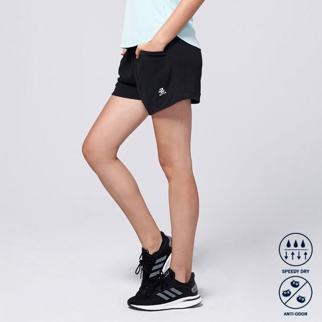 【BATIS 巴帝斯】抗菌修身運動短褲 - 女(黑色)
