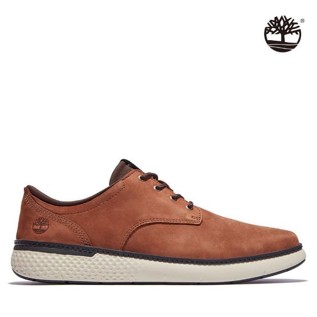 【Timberland】男款咖啡色磨砂革牛津休閒鞋(A2BCTA20)