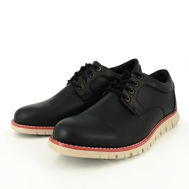 【Hang Ten】時尚男休閒皮鞋8002黑(都會/穿搭/時尚/雅痞)